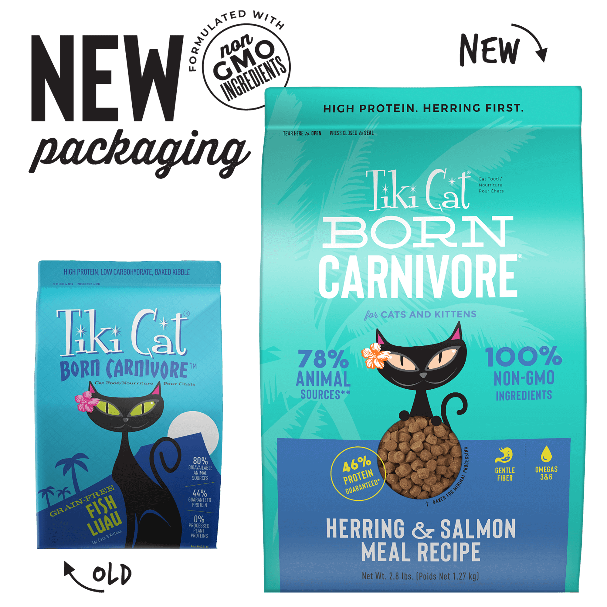 Tiki Cat Born Carnivore Fish Luau